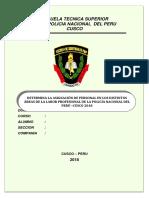 Monografia de Determina La Asignación de Personal en Los Distintos Áreas de La Labor Profesional de La Policía Nacional Del Perú –Cusco 2018