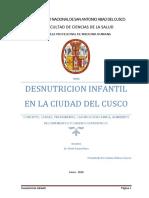 Monografia de Desnutricion Infantil en La Ciudad Del Cusco