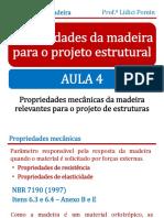 Aula 4 Propriedades Da Madeira Para o Projeto Estrutural Propriedades Mecânicas Rev1