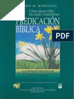 La Predicación Bíblica - Haddon W. Robinson
