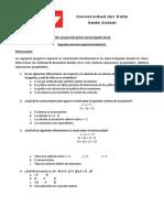 Taller Preparación Primer Parcial Algebra Lineal