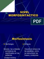 NIVEL MORFOSINTACTICO - SINTETIZADO