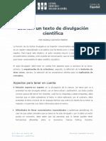 Escribir Un Artícluo de Divulgación Científica