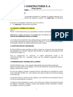 Pliego de Condiciones 3g Constructores s.a.