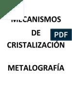 Apuntes Cristaizacion y Metalog