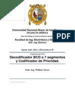 Info Lab 06 (Decodificador BCD a 7 Segmentos y Codificador)