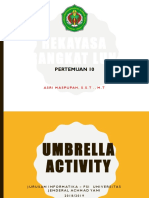 10. Umbrella Activity