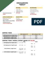 Merchandising Formula Card