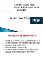 Laws and Jurisprudence for Guards
