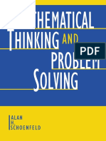 Mathematical Thinking and Problem Solving