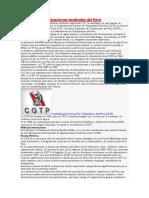 Principales Organizaciones Sindicales Del Perú