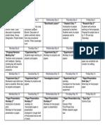 pbi project calendar