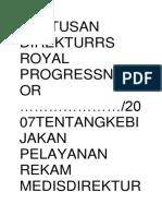 Eputusan Direkturrs Royal Progressnomor
