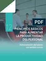 Principios Basicos Para Aumentar La Productividad