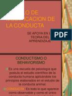 Modelo de Modificacion de La Conducta