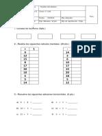 Prueba Matematica Unidad 4