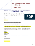 CCNA1 v60 Final Exam Answers 2018 100 Option C
