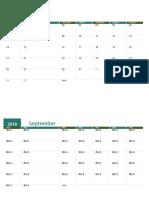 Calendario Académico Agosto