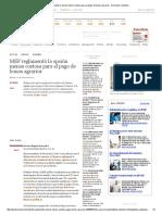 MEF Reglamentó La Opción Menos Costosa Para El Pago de Bonos Agrarios - Economía _ Gestión