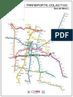 Plano Metro Ciudad de Mexico