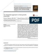 An Integrated Approach to Fetal Growth Restriction
