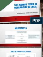 Victor Herrera Fase 2 CADENAS DE MARKOV, TEORÍA DE COLAS Y PROGRAMACIÓN NO LINEAL.