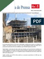 Nota de Prensa del PSPV-PSOE de Alzira