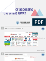 Guideline for Accessing the Online UWAY