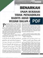 Benarkah Imam Bukhari tdk menjadikan hadits ahad hujjah dalam masalah aqidah.pdf