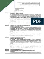 INSTALACIONES SANITARIAS INSTITUCIÓN EDUCATIVA N°0413