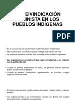 La Reivindicación Feminista en Los Pueblos Indígenas
