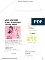 LEJA RE LYRICS - Dhvani Bhanushali _ Tanishk Bagchi