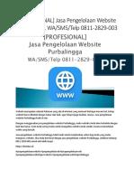 [PROFESIONAL] Jasa Pengelolaan Website Purbalingga, WA/SMS/Telp 0811-2829-003