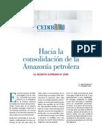 Hacia la consolidacion de la amazonia petrolera