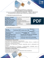 Formato Guía de Actividades y Rúbrica de Evaluación - Fase 3 - Reconocer Las Operaciones Unitarias Que Involucran Cambios Físicos