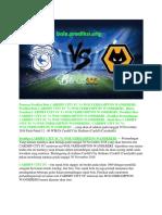 Prediksi Cardiff City Fc vs Wolverhampton Wanderers 30 November 2018