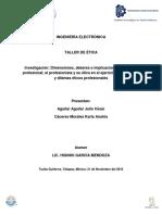 Dimensiones Deberes e Implicaiones de La Etica Profesional