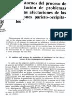 Trastornos del proceso de resolución de problemas en las afectaciones de las regiones parieto-occipitales