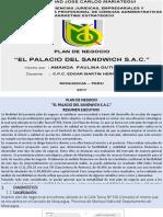 Plan de negocios    El Palacio del Sandwich