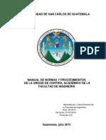 Manual de Normas y Procedimientos de Control Academico