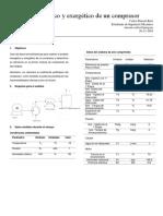 Análisis Energético y Exergético de Un Compresor