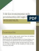 3 de Los Economistas Más Prominentes Del Siglo XX