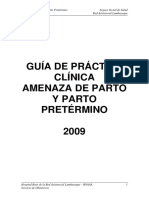 Gpcl-Amenaza de Parto y Parto Pretermino