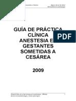 Gpcl-Anestesia en Gestantes Sometidas a Cesareas