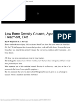 Low Bone Density Causes, Ayurvedic Treatment, Diet - Easy Ayurveda