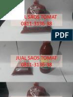 WA 0811-3136-38, Jual Saus Tomat Enak Untuk Masak