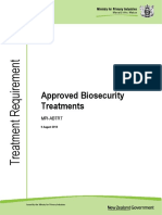 Approved Biosecurity Treatments