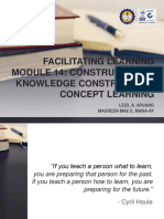 Facilitating Learning - Module 14 Constructivism
