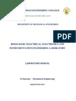 BE8161-Basic Electrical Electronics and Instrumentation Engineering Lab Manual