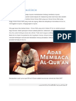 Adab Terhadap Al - Qur'An